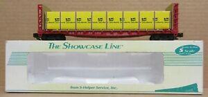 S-Helper 00332 ATSF Bulkhead Flatcar w/Load #92182 S-Gauge/Scale LNIB