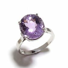 925 Sterling Silver Natural Amethyst Gem Stone Rings Jewelery Us Size ,7,8