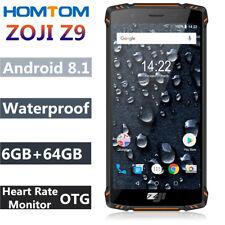 HOMTOM ZOJI Z9 Rugged 4G Smartphone 6GB+64GB Octa Core 5500mAh Face ID Dual SIM