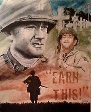 Saving Private Ryan artwork (Tom Hanks) Original Artwork Signed and Dated