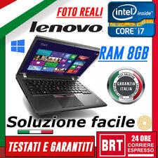 """PC NOTEBOOK LENOVO THINKPAD X250 12.5"""" CPU i7 RAM 8GB +KEY WINDOWS 10! BUONO!!"""