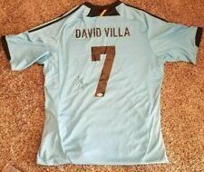 Soccer star DAVID VILLA signed autographed 2012 SPAIN EURO ADIDAS JERSEY PSA/DNA