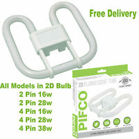 2D 2 Pin 4 Pin 16W 28W 38W Compact Fluorescent Energy Saving Bulb In 3500K White