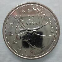 1994 CANADA 25¢ BRILLIANT UNCIRCULATED QUARTER COIN