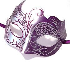 Purple Gray Silver Venetian Mask Masquerade Mardi Gras