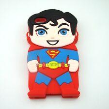 Cover CUSTODIA per IPHONE 4 4S Silicone 3D SUPERMAN SUPEREROI