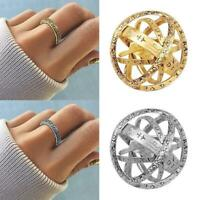 Silver Astronomical Sphere Ball Cosmic Finger Ring Couple Lover Punk Gift Gold