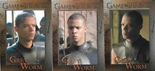 Grey Worm - 3 Card Lot - Games Of Thrones Cards Jacob Anderson - HBO