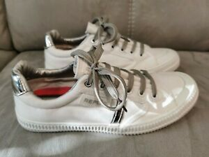 Replay Women's Trainers Size UK 6 Lace Up White Shoes Trainers Sneakers