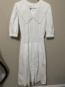 60\u2019s White Lace Mini Dress 1960/'s Size Small