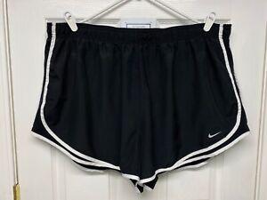 Nike DRI-FIT #847761 Women's Plus Lined Tempo Athletic Running Shorts: 3X, Black