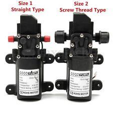 DC12V 130PSI 6L/Min Water High Pressure Diaphragm Self Priming Pump 70W New