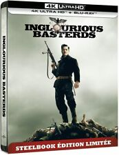 Inglourious Basterds Steelbook Limited Edition 4K + Blu-ray ENG FRA NEW PREORDER