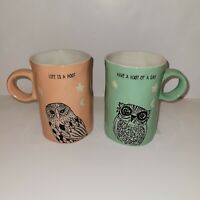 I ❤ It Coffee Cup OWLS STARS MOON Spectrum Designz (Set 2) Have a Hoot Of A Day