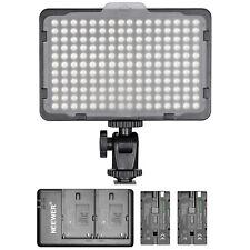 Neewer regulable 176 Led video luz con 2-pack 2600mah Li-Ion bateria kit