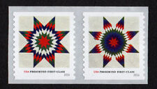 UNITED STATES, SCOTT # 5098-5099, PAIR OF STAR QUILTS 2016 PRESORTED FIRST CLASS
