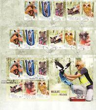 Australia 2010 Wildlife Rescue Sheet, Self-adhesives and Minisheet Fdcs