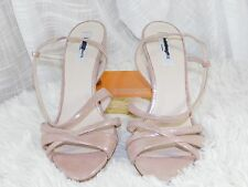L.K. Bennett 'Lourdes' Metallic Rose Leather Sandal Sz 37.5 $345