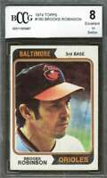 Brooks Robinson Card 1974 Topps #160 Baltimore Orioles BGS BCCG 8
