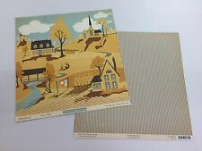 LOT OF 2 OCTOBER AFTERNOON - FARMHOUSE -  DOUBLE SIDED CARDSTOCK 12x12""