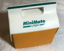 New listing Vtg 1990's Mini Mate Cooler By Igloo Orange White and Teal Made In Usa Retro