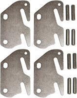 """4 Bed Rail Double Hook Flat Plates Kit with 8 Installation Pins 1-1/4"""" x 19/64"""""""