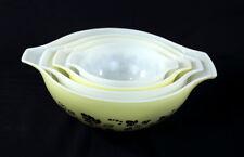 Gooseberry Pyrex Bowl Set Yellow White Black Cinderella Batter Nesting Bowls Set