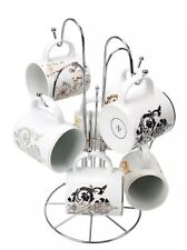 Premier Housewares 8 Cup Mug Tree - Chrome