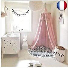 Lit à baldaquin pour bébé - En coton - Moustiquaire pour chambre à  (Rose)