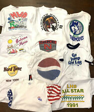 Vintage T Shirt Lot Of 10 Single Stitch 80s 90s Pepsi Hard Rock Vacation Nike L