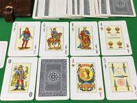 Vintage c1955 Spanish NAIPES COMAS Wide ** POKER ** Playing Cards in Card Case