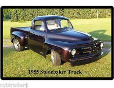 1955 Studebaker Truck Purple  Refrigerator / Tool Box Magnet