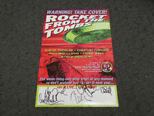AUTOGRAPHED / SIGNED ROCKET FROM THE TOMBS THE DAY THE EARTH MET THE POSTER