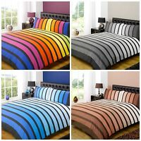 Soho Striped Duvet Cover Sets Bedding For Boys Mens Kids Bed 3 colours available