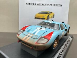 SHELBY 405 FORD GT 40 MK11 LE MANS 1966 #1 KEN MILES RACE END DIRTY 1:18