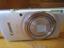 Canon PowerShot ELPH 180 20.0MP Digital Camera Silver Box Charger SD Card
