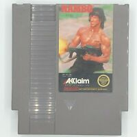 Nintendo NES Rambo Video Game Cartridge *Authentic/Cleaned/Tested*