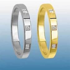 Anelli con diamanti g in oro bianco 9 carati