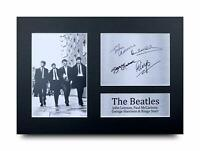 The Beatles Signed A4 Framed Printed Autograph Music Print Poster Gift