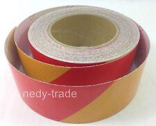 10m x 50mm Truck Lorry Trailer Red/Orange Reflective Tape Sticker Decal Vinyl