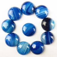 AG355 send randomly 10Pcs 24x13x10mm Blue Crazy Lace Agate Tumbled Pendant Bead