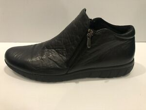 Ladies Munro American Black Double Zip XL Extra Light Shoes Boots 11.5 Narrow N