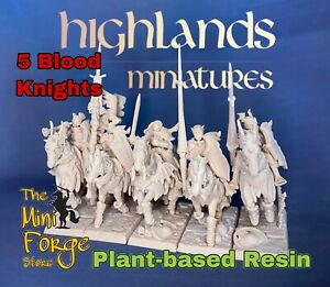 Vampire Blood Knights, Wargaming Warhammer Fantasy Inspired,Highlands Miniatures