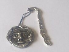 the Green man code dr84 Made From English Pewter On A DOLPHIN Bookmark