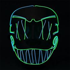 Cross Stitch Joker Light up Mask Halloween Cosplay Fancy Dress Purge