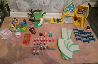 Peppa Pig Massive Bundle Playset Figures Toy - House School Road Car ETC
