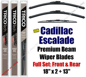 Wipers 3pk Front Rear Standard - fit 1999-2000 Cadillac Escalade 19180x2/30130
