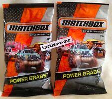 Lot of (2) Matchbox POWER GRABS Vehicle LAMBORGHINI GALLARDO LP 560-4 Police NIP