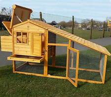 LARGE CHICKEN COOP HEN POULTRY ARK HOUSE HUTCH RUN NEST NEW AND TREATED