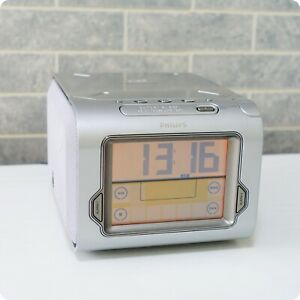 Philips AJ3980 Digital Alarm Clock AM/FM Radio with CD Player. Touch LCD Panel